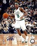 #1: Rajon Rondo Signed Autographed 8X10 Photo Celtics Entering Zone JSA V54032