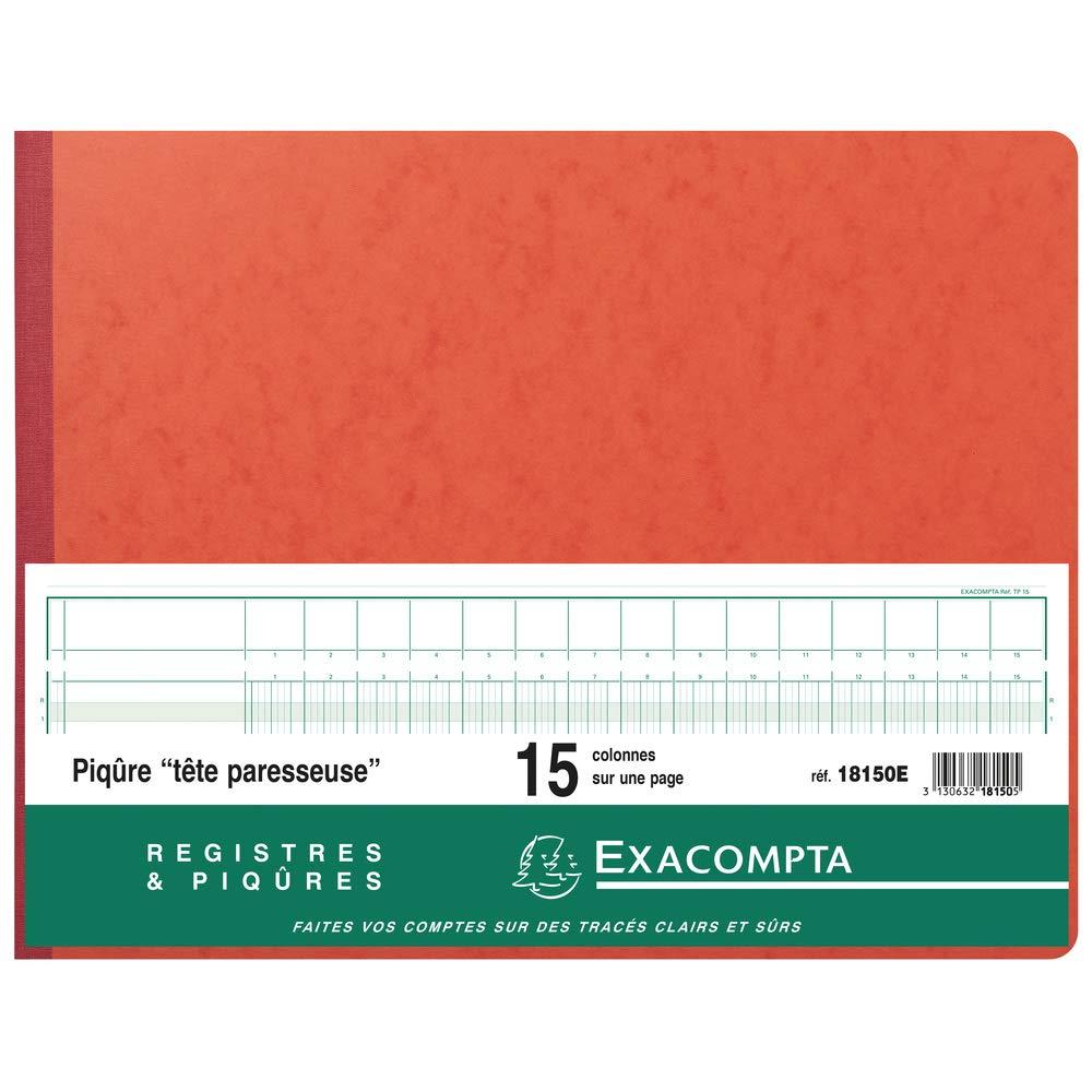 Exacompta 18150E Heft mit Kopfleiste 29,7x38 cm 15 Spalten 80 Seiten