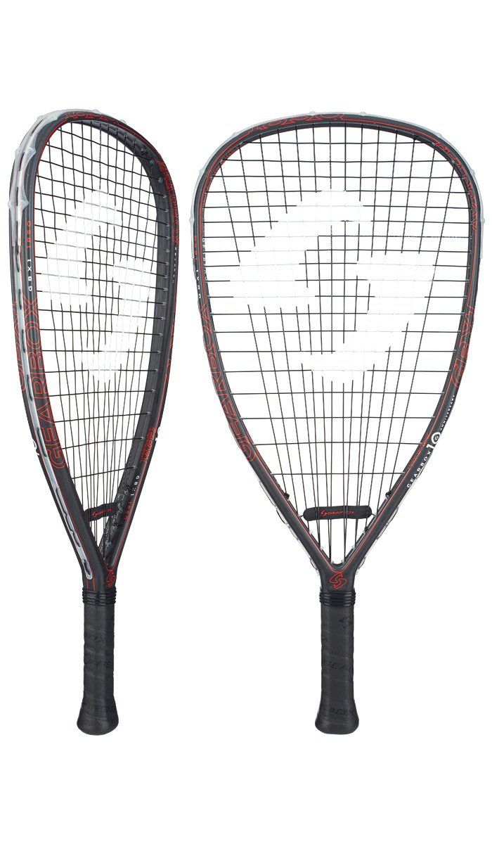 Gearbox GBX1 ''10th Anniversary Edition'' Racquetball Racquet (185g)(Quad)(Red)(3 5/8'' Grip)