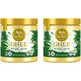 Original Grass Fed Ghee Butter by 4th & Heart, 32 Ounce (2 x 16oz Jars), Keto, Pasture Raised, Non-GMO, Lactose and…