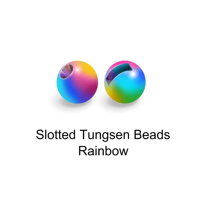 Bindematerialien Beads in 9 Farbe MAXIMUMCATCH Fliegenbinden Geschlitzte Tungsten Beads 2.4//2.5//2.8//3.0//3.3//3.5//4.0mm Slotted Tungsten Beads 25//50 St/ücks pro Packung