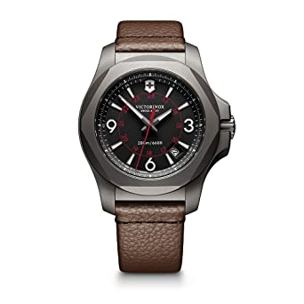 Victorinox Swiss Army Men s I.N.O.X. Titanium Swiss-Quartz Watch with  Leather Strap 06320d377ea