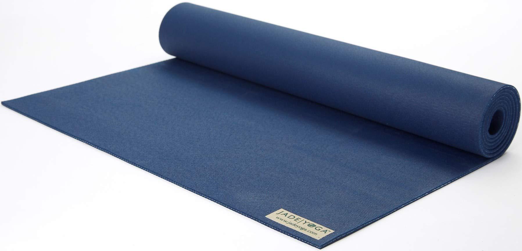 Jade 68-Inch by 1/8-Inch Travel Yoga Mat (Midnight Blue)