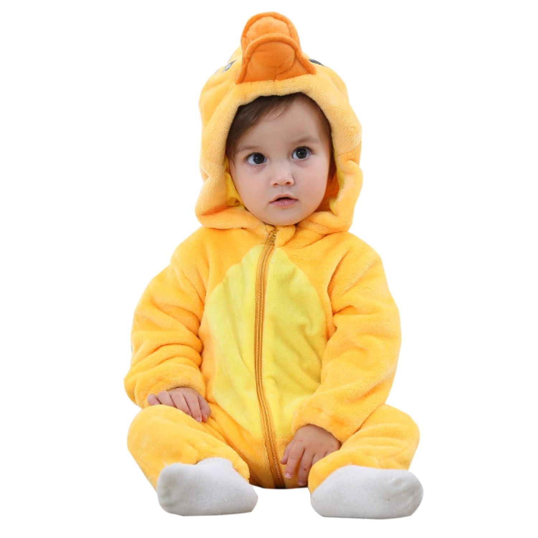 WSLCN Unisex Baby Toddlers Romper Jumpsuit Onesie Hooded Cartoon Pyjamas Sleepsuits JYTZ21/2