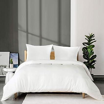 Bedsure Housse de Couette 220x240 cm Blanc