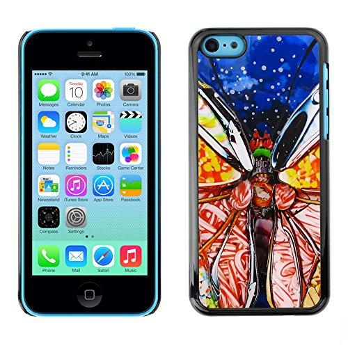 Premio Sottile Slim Cassa Custodia Case Cover Shell // F00012680 papillon // Apple iPhone 5C
