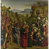 'Boccaccio Boccaccino Christ carrying the Cross and the Virgin Mary Swooning ' oil painting, 24 x 25 inch / 61 x 62 cm ,printed on high quality polyster Canvas ,this Vivid Art Decorative Canvas Prints is perfectly suitalbe for Nursery artwork and Home decor and Gifts