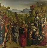 Oil Painting 'Boccaccio-Christ Carrying The Cross And The Virgin Mary Swooning,1501' 16 x 16 inch / 41 x 42 cm , on High Definition HD canvas prints, gifts for Basement, Laundry Room And Powde decor
