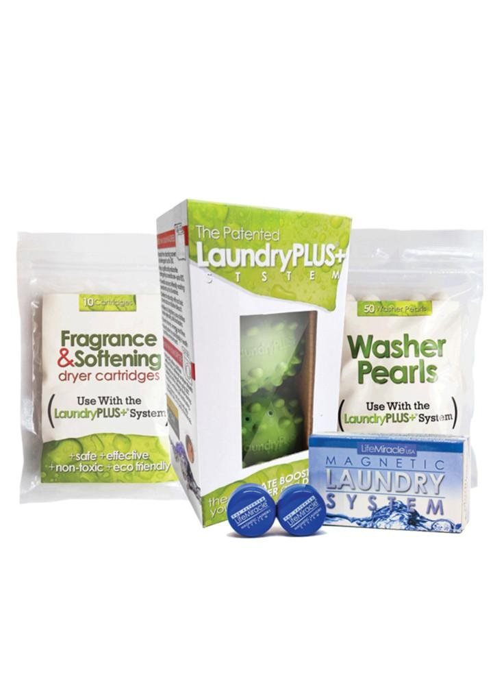 LaundryPLUS+ System (Full Package: LaundryPLUS+ x1 + Washer Pearls x1 + Dry Cartridge x 1 + MLS x 1) Revolutionary laundry technology for Both Washer & Dryer that Cleans and Brightens Clothes