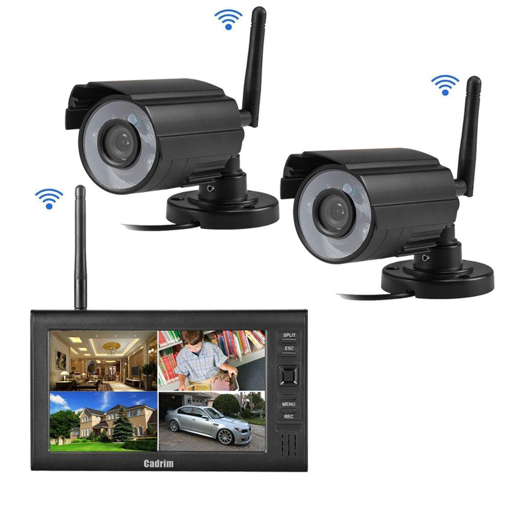 Cadrim Videoüberwachung 7 Zoll LCD 4CH DVR Recorder 2.4GHz WIFI Baby ...