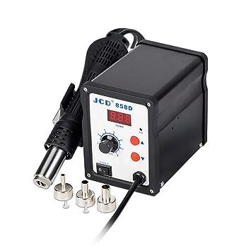 Estación de soldadura de retrabajo de aire caliente con pistola de calor sin escobillas BK-858D SMD 700W 220V: Amazon.es: Bricolaje y herramientas