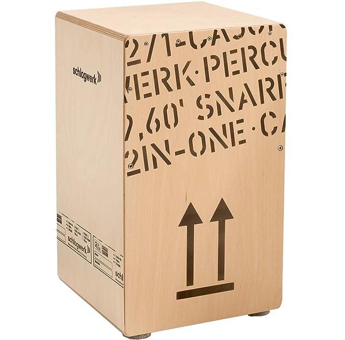 Schlagwerk CP 404 Natural 2 inOne Snare Cajon Large + Cajón libro ritmo Escuela Keepdrum sitzpad: Amazon.es: Electrónica