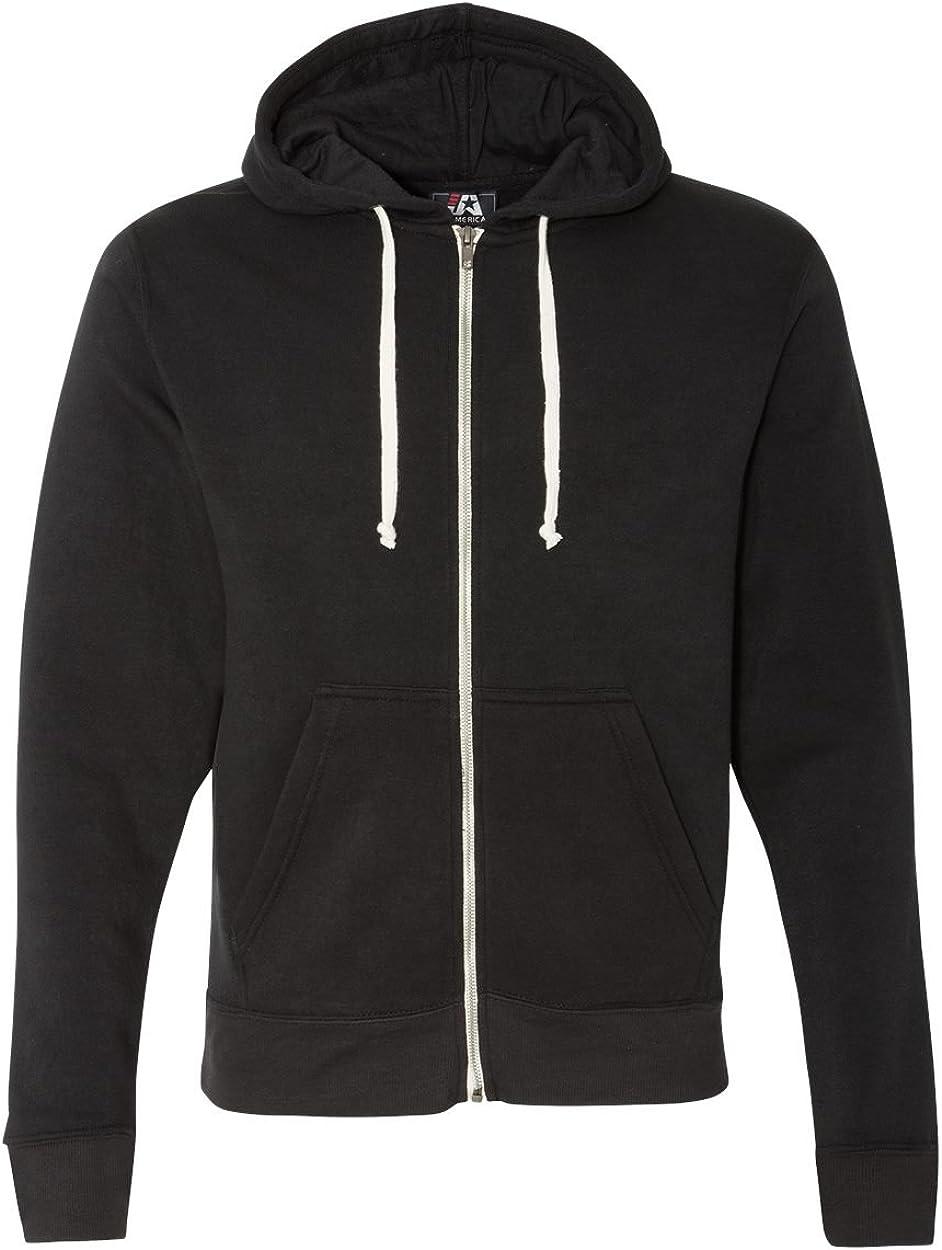 J America Adult Full-Zip Hooded Fleece Sweatshirt