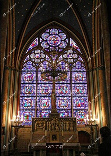 - Notre Dame Cathedral Virgin Mary Shrine Blessed Mother Paris France Europe Church Architecture Original Fine Art Photography Wall Art Photo Print