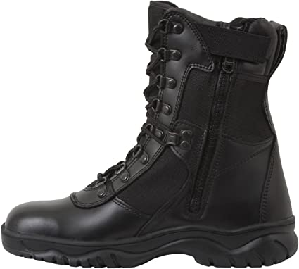 Forced Entry Leather Tactical Deployment Boot Military SWAT Boots Duty Work