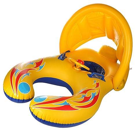 Contever Anillo de Natación Niños Inflable Piscina Flotador Barco Doble Asiento Agua Juguetes para Bebés y