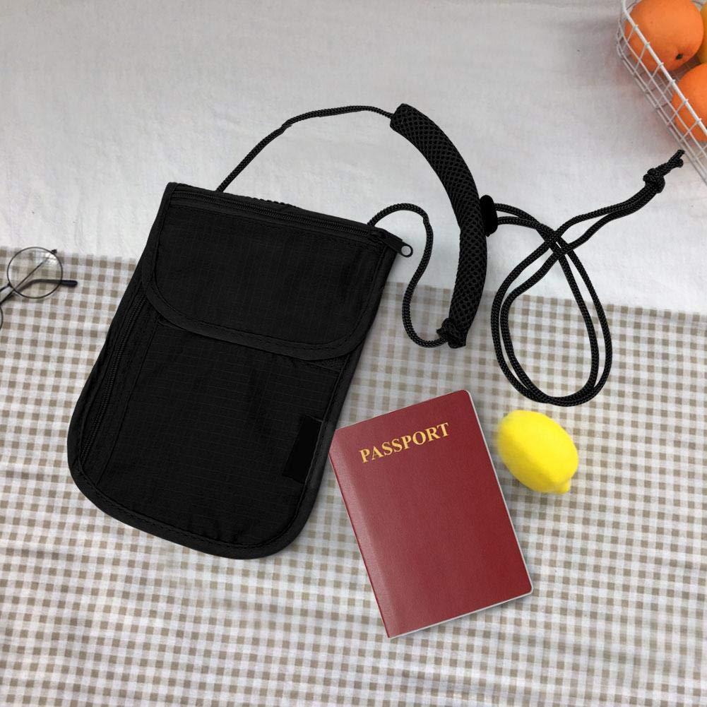 Passeport Anti-vol Blanc Suspendu Portefeuille Pokerty Sac de Voyage Rangement en Nylon portatif de Voyage en Plein air Accessoire de Voyage Sac de Voyage