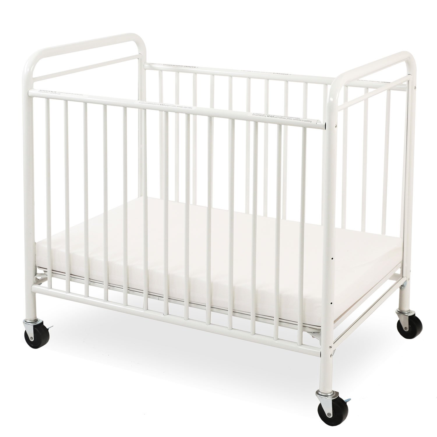 LA Baby The Condo Metal Evacuation Window Crib, White CS-8510-W