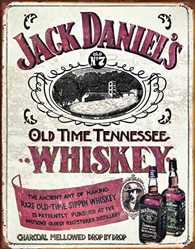- Desperate Enterprises Jack Daniels - Sippin Whiskey Tin Sign, 12.5