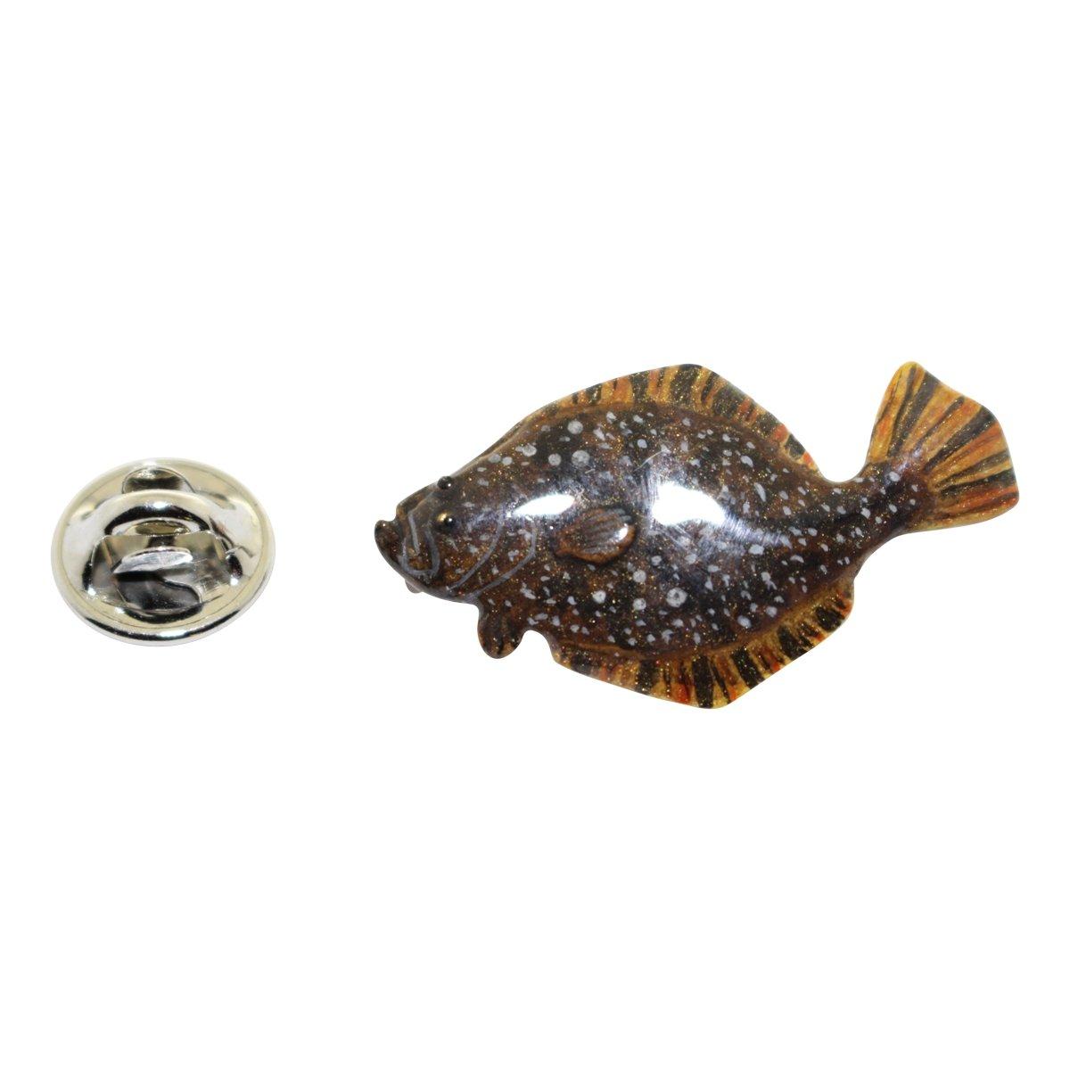 Fluke Pin ~ Hand Painted ~ Lapel Pin ~ Sarahs Treats /& Treasures