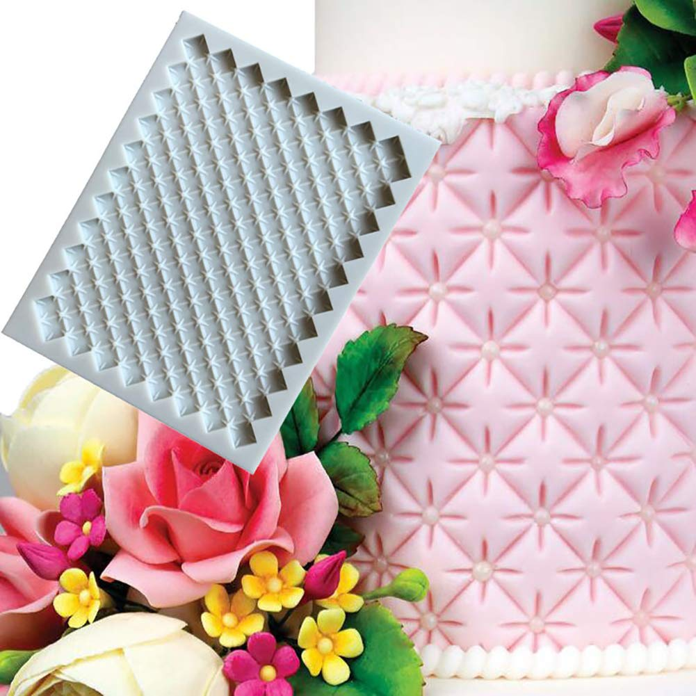 Cross Plaid Edge Decoration Silicone Baking Cake Fondant Chocolate Mold DIY Tool Kitchen Baking Tools Random Color Ingrirt5Dulles Cake Mould