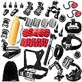 Zookki Outdoor Sports Accessories Kit for GoPro Hero Black Silver 5/4/3+/3/2/1 SJ4000 SJ5000 SJ6000, Accessories for Action Video Cameras Xiaomi Yi/WiMiUS/Lightdow/DBPOWER/ dOvOb