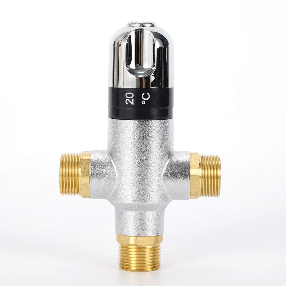Thermostat de vanne douche robinetterie thermostatique 3 voies 3//4 Thermostat de douche vanne avec pour douchette