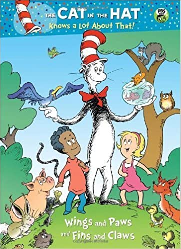 Wings and Paws and Fins and Claws (Dr. Seuss/Cat in the Hat) (Deluxe  Coloring Book) by Tish Rabe (2010-08-10)