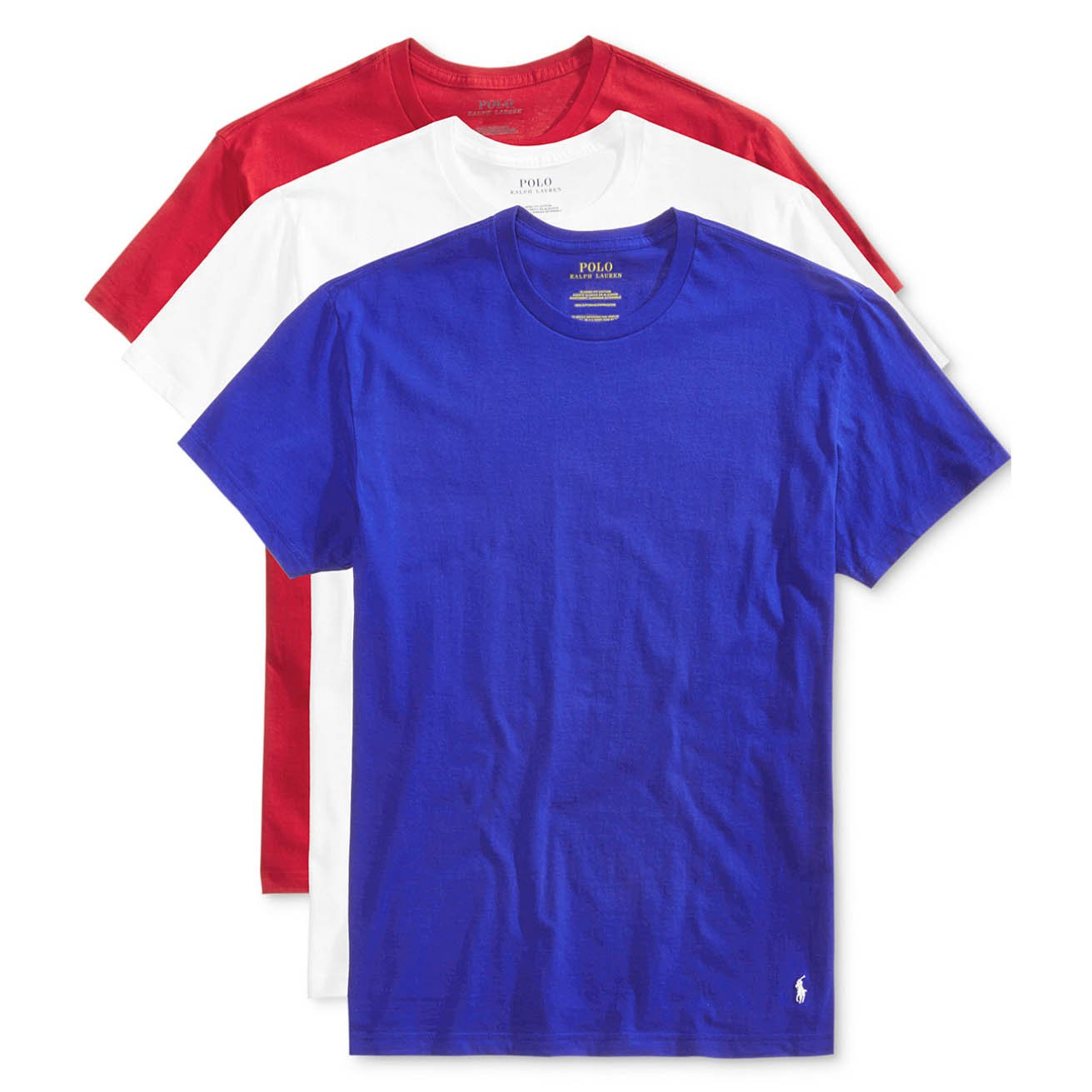 4e9d7e2a62a4 Polo Ralph Lauren Men s Classic Crew Neck Undershirts 3-Pack at Amazon Men s  Clothing store