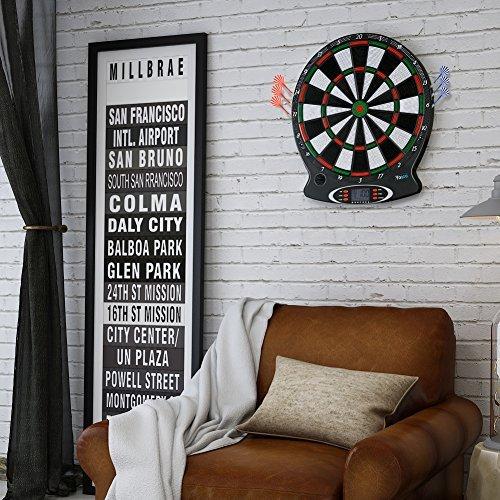 電子ソフトTip Dartboard、プロフェッショナル電子Hanging Dartboard LCDスコアリングインジケータDart Game with 6個ダーツの商品画像
