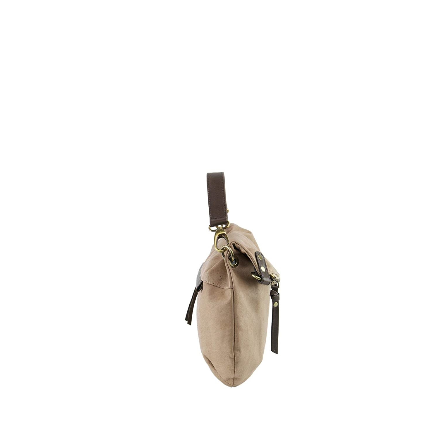 74f6e0944508 Manzoni Biscuit Colored Women s Leather Shoulder Bag  Manzoni  Amazon.in   Shoes   Handbags
