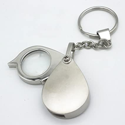 Lupa de bolsillo, 8 x 40 aumentos, portátil, plegable, lupa de lectura con llavero Tamaño libre As Picture Show