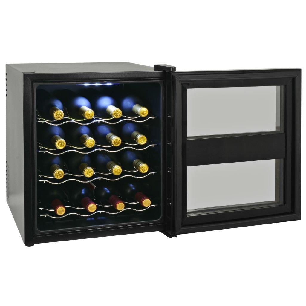 Tuduo Botellero para vinos Nevera Bar 48 L 16 Botellas Pantalla de ...