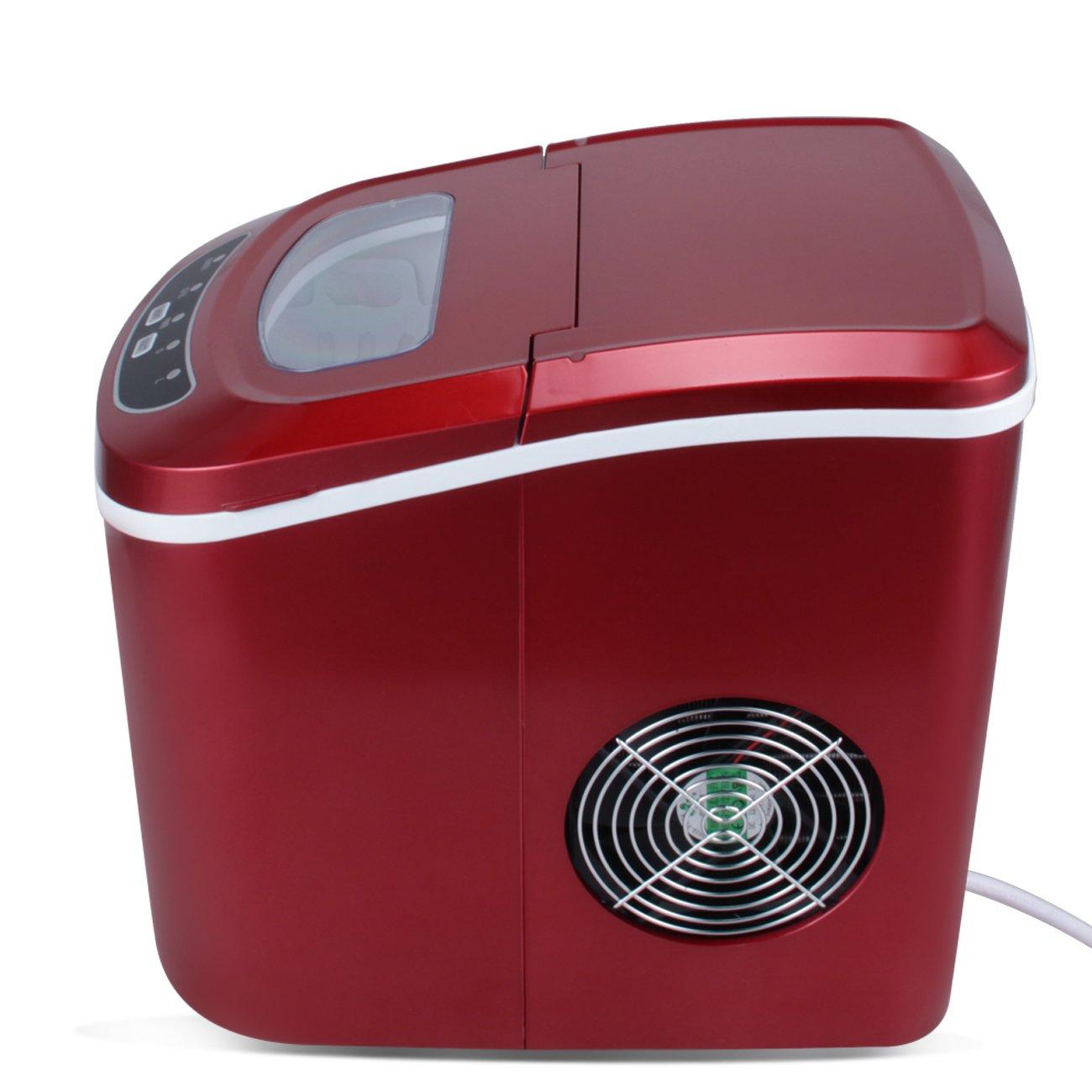 Della Portable Electric Ice Maker Machine Producing 26 Lbs. Of Ice Per Day- Red by DELLA (Image #2)