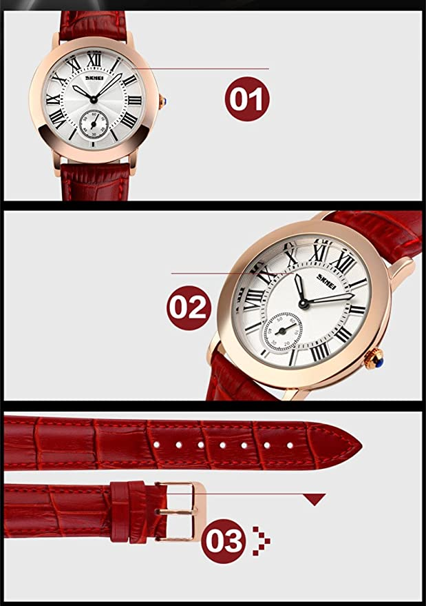 Amazon.com: Relojes de Mujer Women Watches Roman Numbers Casual Women Wristwatch Relogio Feminino RE0031: Watches