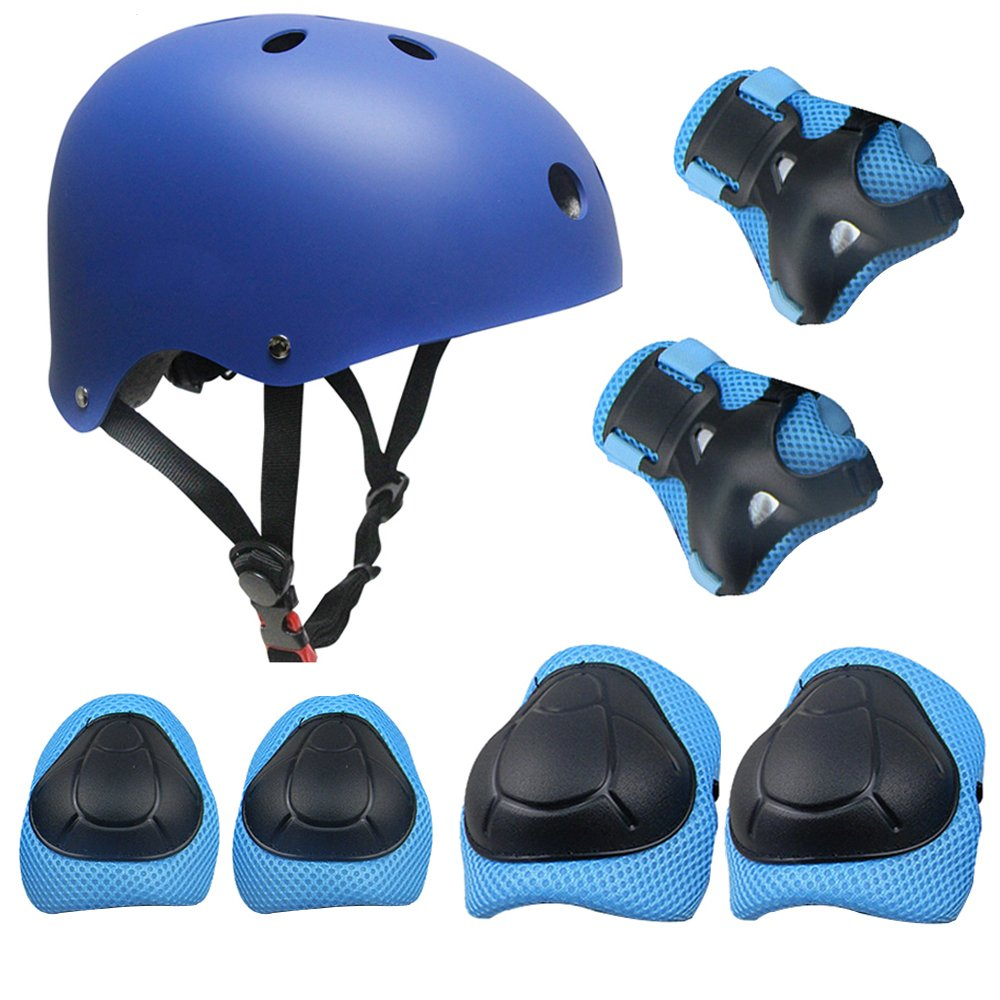 Topfire Kinder Scooter Hoverboard BMX Bike Helm, Hand-Knie, Ellenbogen Pads und Gel Pads