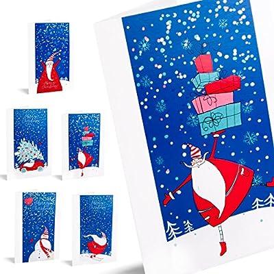 Felicitaciones de navidad Santa Stories. Pack De 10 Tarjetas ...