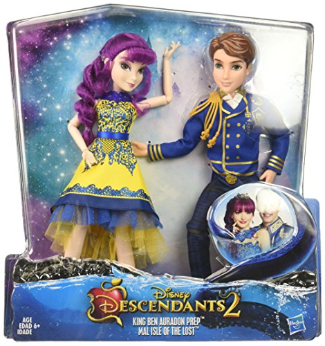 Disney Descendants Two-Pack Ben Auradon Prep and Mal Isle of the Lost (Thing 1 And Thing 2 Teenage Costumes)