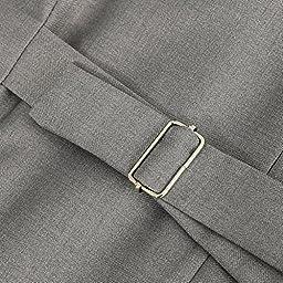 Hanayome Men\'s Formal Vest Casual Waistcoat Dress Vests Jackets VS05£¨Grey,XXXL£©