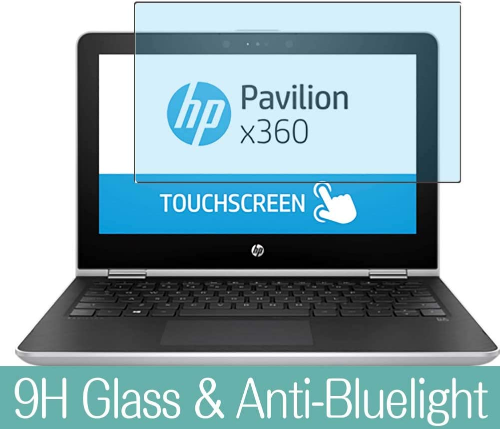 Synvy Anti Blue Light Tempered Glass Screen Protector Compatible with HP Pavilion x360 14-ba101ng 14 inch Visible Area 9H Protective Screen Film Protectors (Not Full Coverage)