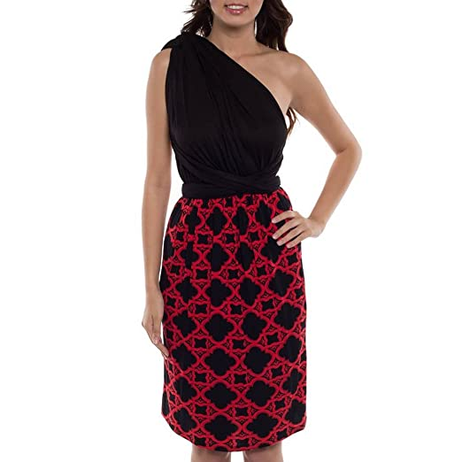 8302eacd7f86 Women Transformer Infinity Evening Dress Multi Way Wrap Convertible Halter  Maxi Floor Long Dress - Black