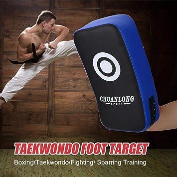 PU en Cuir Muay Thai Art de Boxe Karat/é Taekwondo Kick Cible Sac de Boxe Pad Shield Formation AFFEco Pied Cible Pad
