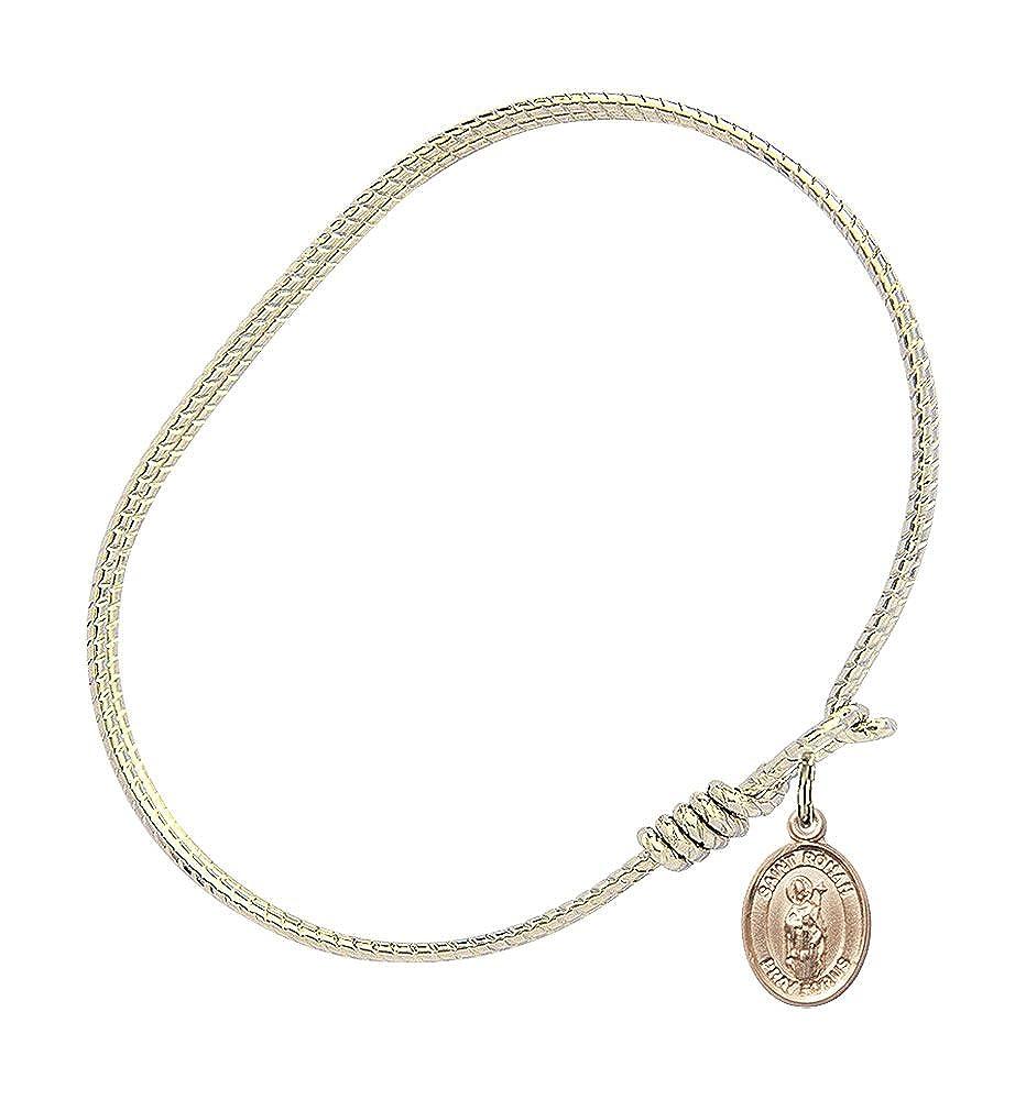 Ronan Charm On A 6 1//4 Inch Oval Eye Hook Bangle Bracelet St
