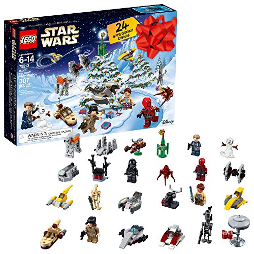 LEGO 6213564 Star Wars Advent Christmas Countdown Calendar 75213 New 2018 Edition, Minifigures, Small Building Toys (307 Pieces), -