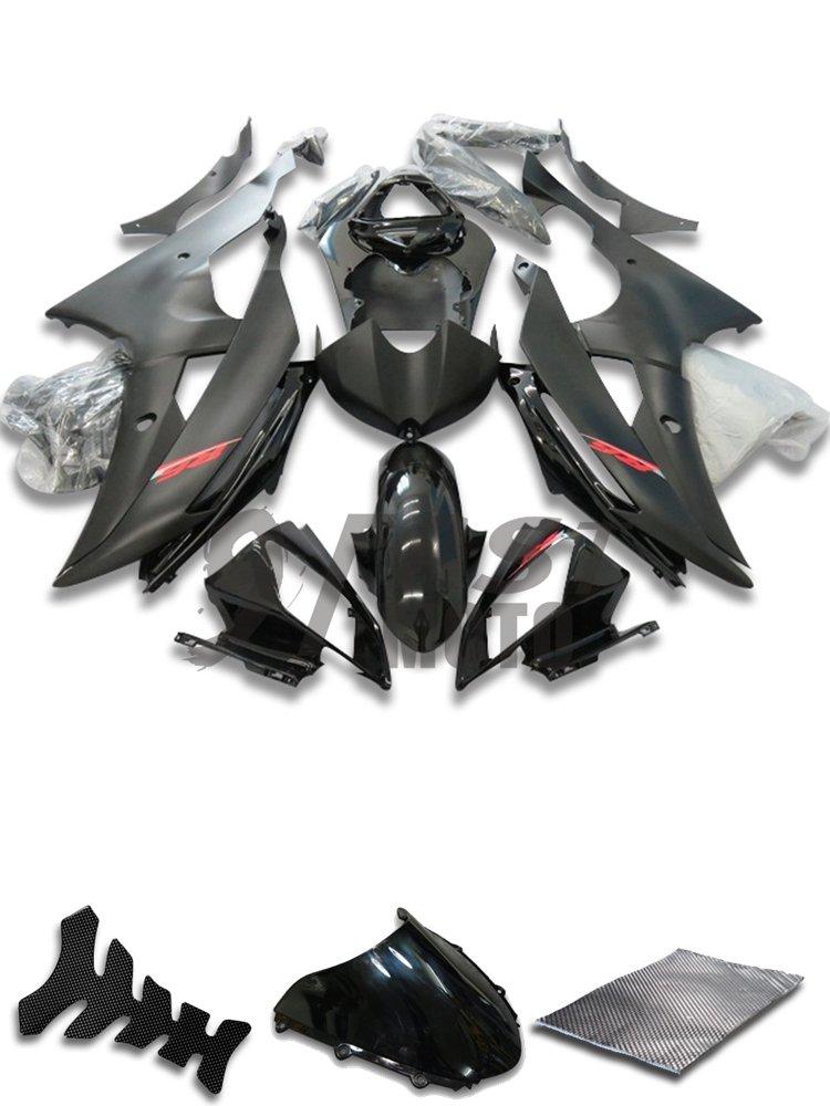9FastMoto yamaha ヤマハ R6 YZF-600 2008 2009 2010 2011 2012 2013 2014 2015 用フェアリング オートバイフェアリングキット ABS 射出成形セット スポーツバイク カウル パネル (ブラック) Y0954   B07CCZHKQH