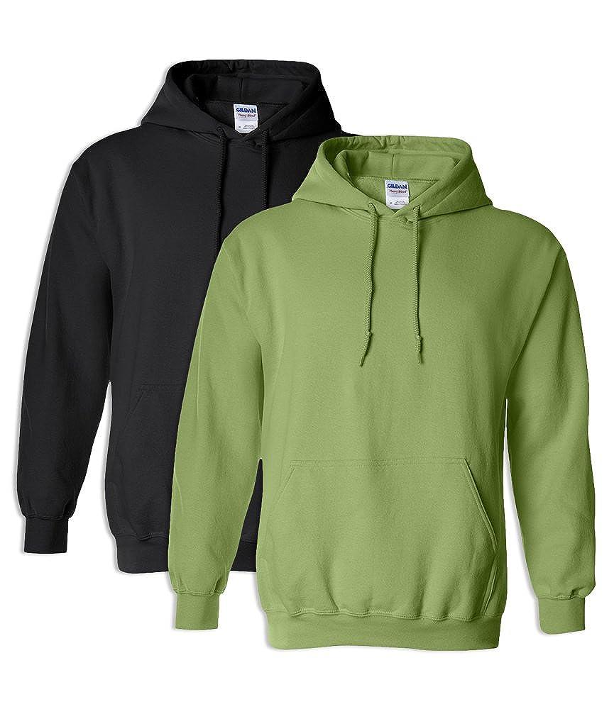 1 Kiwi Gildan G18500 Heavy Blend Adult Unisex Hooded Sweatshirt 5XL 1 Black