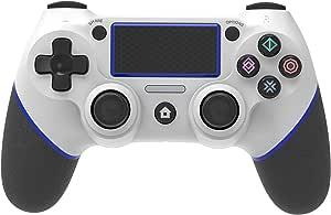 Game Controller voor PS4, Wireless PS4 Remote Controller Grip voor Playstation 4, Dual Vibration Shock USB Joystick Gamepad voor PS4 / PS4 Slim / PS4 Pro met USB-kabel, Antislipgreep LED-indicator