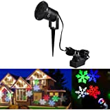 CroLED Natale Festa Lampada Decorazione a Neve, Lampada Giardino Terra, Lampa...