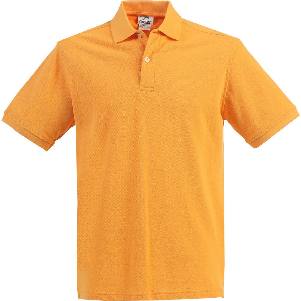 B-One Little Kids Unisex Orange Short Sleeve School Uniform Polo Shirt 6