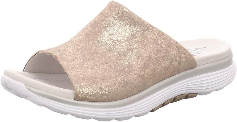 Gabor Comfort 26910 95 Women S Mules Rollingsoft Shell Beige Mules Women S Shoes Mules Toe Separators Beige Leather Caruso Metallic Comfort Beige 700262 Schuhe Handtaschen